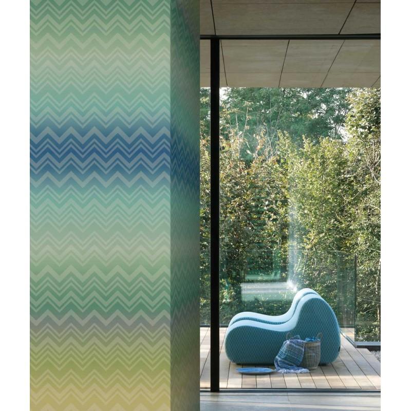 panneau grande largeur papier peint zig zag sfumato bleu vert missoni home d co en ligne. Black Bedroom Furniture Sets. Home Design Ideas