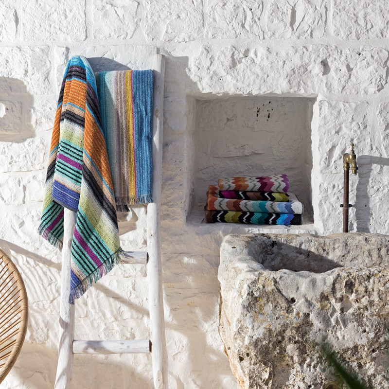 draps de bain viviette missoni home d co en ligne draps de bain. Black Bedroom Furniture Sets. Home Design Ideas