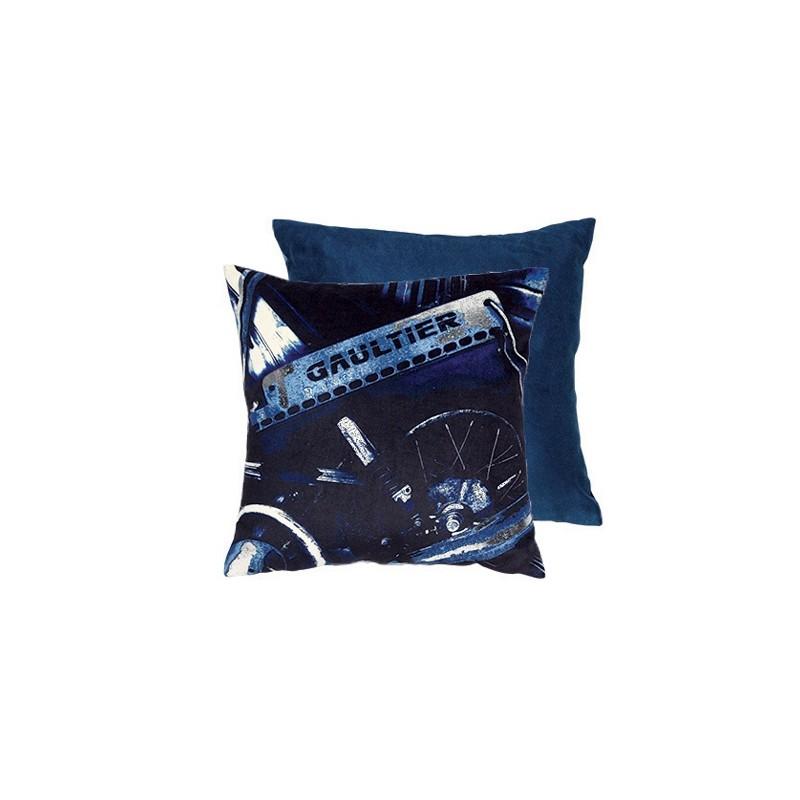 coussin viril indigo jean paul gaultier d co en ligne coussins. Black Bedroom Furniture Sets. Home Design Ideas