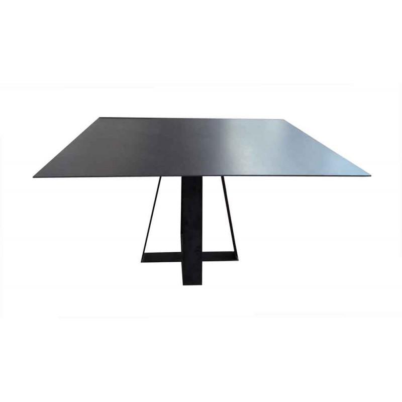 table salle manger c ramique tolbiac rallonges d co en. Black Bedroom Furniture Sets. Home Design Ideas