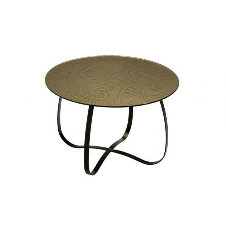 Table Holly Glass bronze, Missoni Home