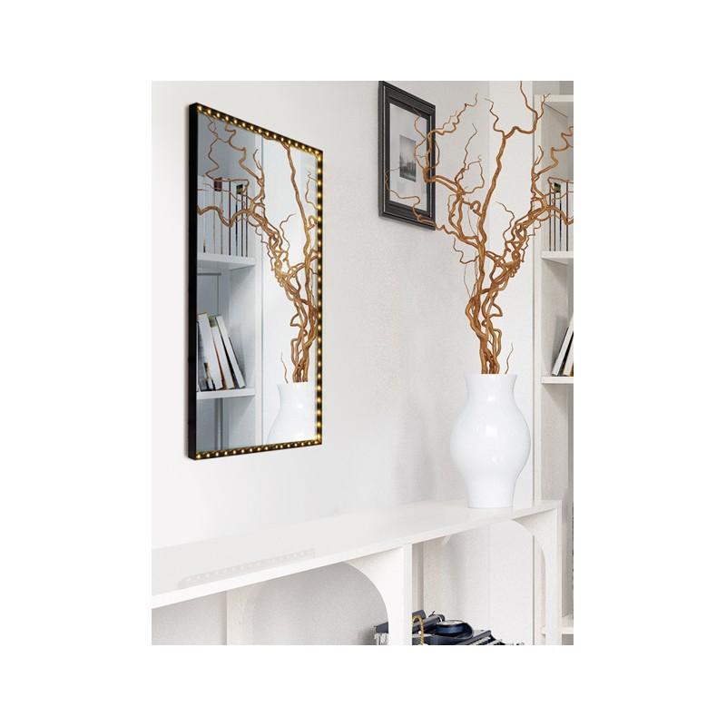 applique miroir vanity square noire le deun luminaires d co en ligne miroirs. Black Bedroom Furniture Sets. Home Design Ideas