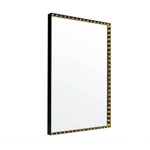 Applique Miroir Vanity Square noire, Le Deun Luminaires