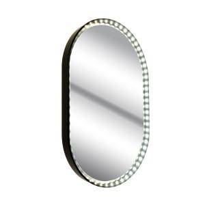 Applique Miroir Vanity Oval noire, Le Deun Luminaires