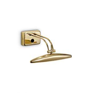 Eclairage tableau Mirror 20 doré laiton, Ideal Lux
