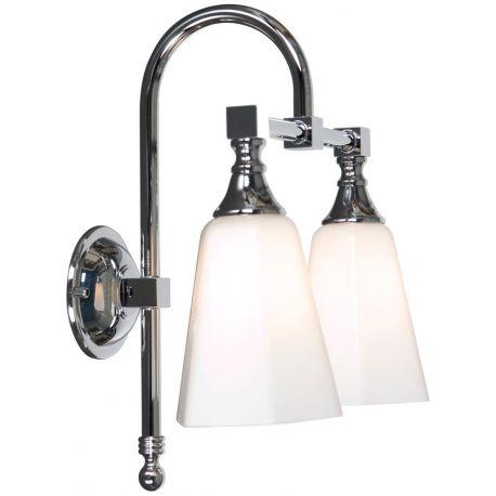 Applique salle de bain Classic double Courbe, Linea Verdace