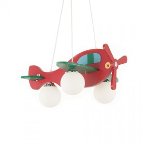 Suspension enfant Avion rouge, Ideal Lux