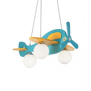Suspension enfant Avion bleu, Ideal Lux