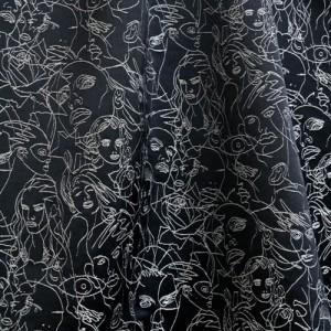 Tissu Regard Noir, Jean Paul Gaultier