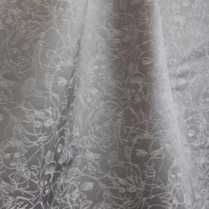 Tissu Regard Gris, Jean Paul Gaultier