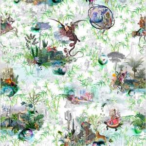 Panneau Reveries Vert buis, Christian Lacroix