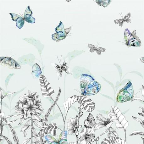 Panneau Papillons Eau de Nil, Designers Guild