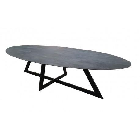 table de salle a manger plateau ceramique. Black Bedroom Furniture Sets. Home Design Ideas