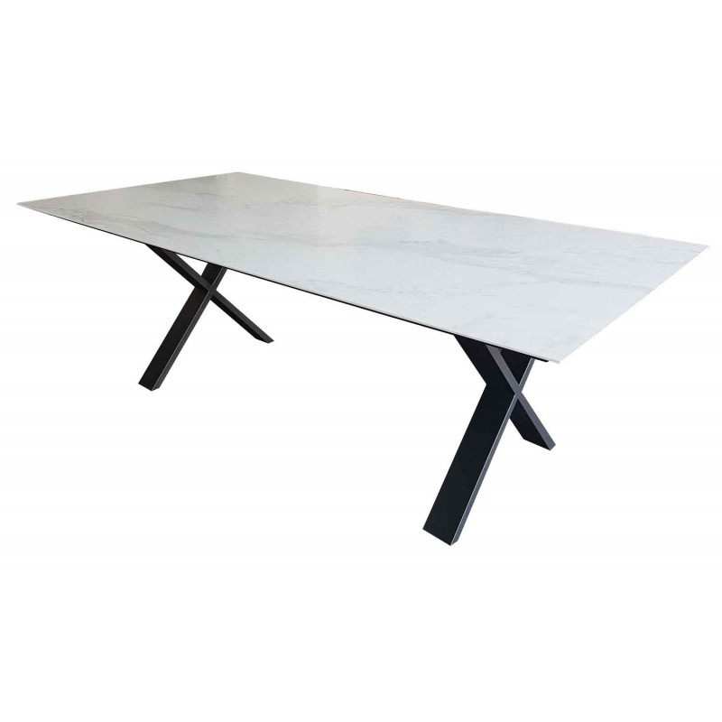 Table Salle A Manger Ceramique Cross Rallonges 8 Finitions Deco En
