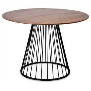 Table repas ronde Florence cacao/noire