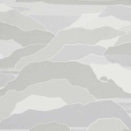 Papier peint Colline brume, Lelièvre