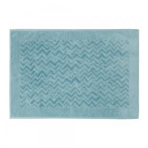 Tapis de bain Rex bleu glacier, Missoni Home