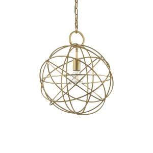 Suspension Konse dorée 3 dimensions, Ideal Lux