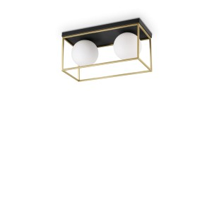 Plafonnier Lingotto rectangulaire, Ideal Lux