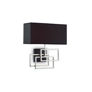 Applique Luxury noir argent, Ideal Lux