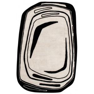 Tapis Fragment Noir et blanc, Toulemonde Bochart