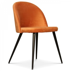 Chaise velours orange