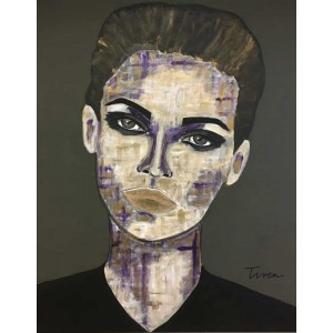 Tiven - Impression du tableau Sacha sur Plexiglas
