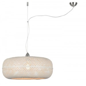 Suspension Palawan/Bambou blanc Ø60cm, Good&Mojo