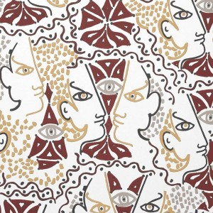 Papier peint vinyle Union Terracotta, Lelièvre