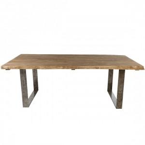 Table teck brossé Vague 220x100, Kok Maison