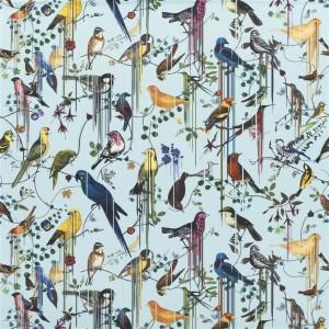 Tissu Birds Sinfonia Source, Christian Lacroix