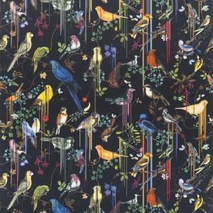 Tissu Birds Sinfonia Crepuscule, Christian Lacroix