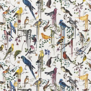 Tissu Birds Sinfonia Perce Neige, Christian Lacroix