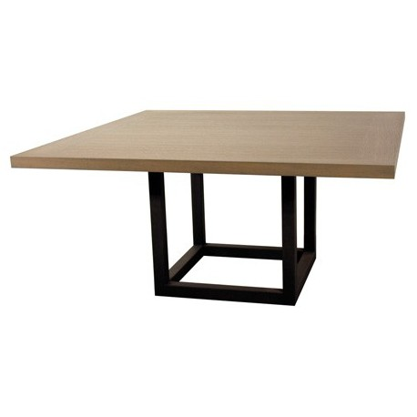 Table de salle manger zoe carr e 9 finitions ph collection d co en ligne - Grande table carree salle manger ...