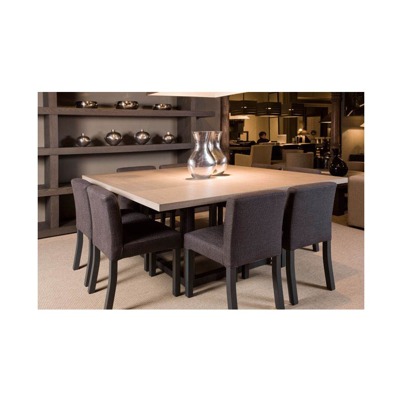 Table de salle manger zoe carr e 9 finitions ph - Table de cuisine 6 personnes ...