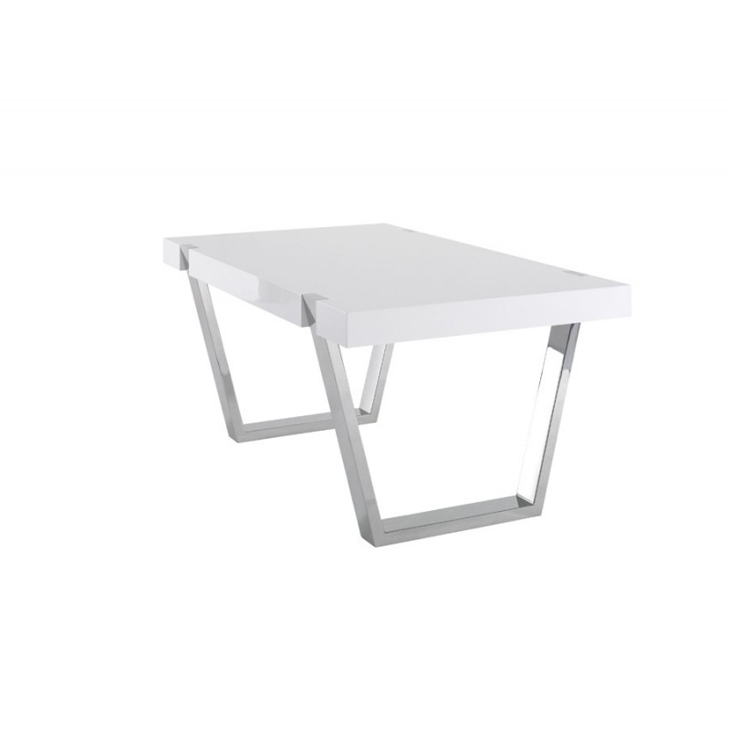 Table de salle manger artea laque blanche azea d co for Table a manger blanche