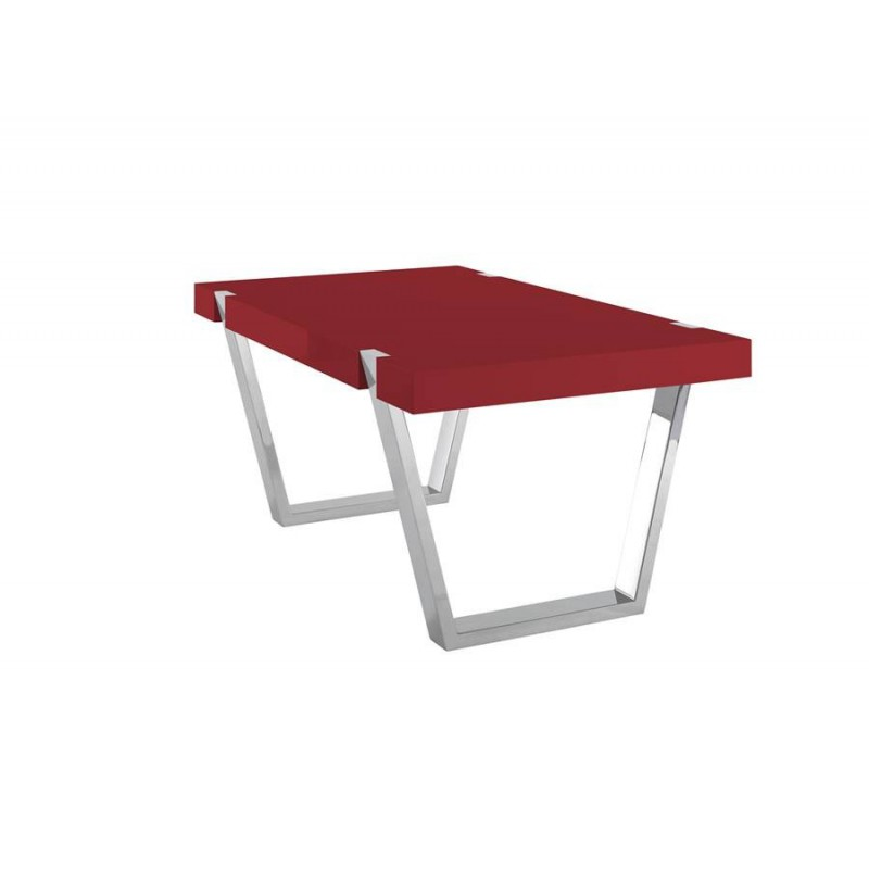 table de salle 224 manger artea laque rouge azea d233co en