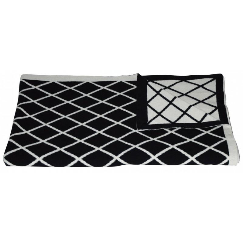 plaid suggestion blanc noir jean paul gaultier d co en. Black Bedroom Furniture Sets. Home Design Ideas