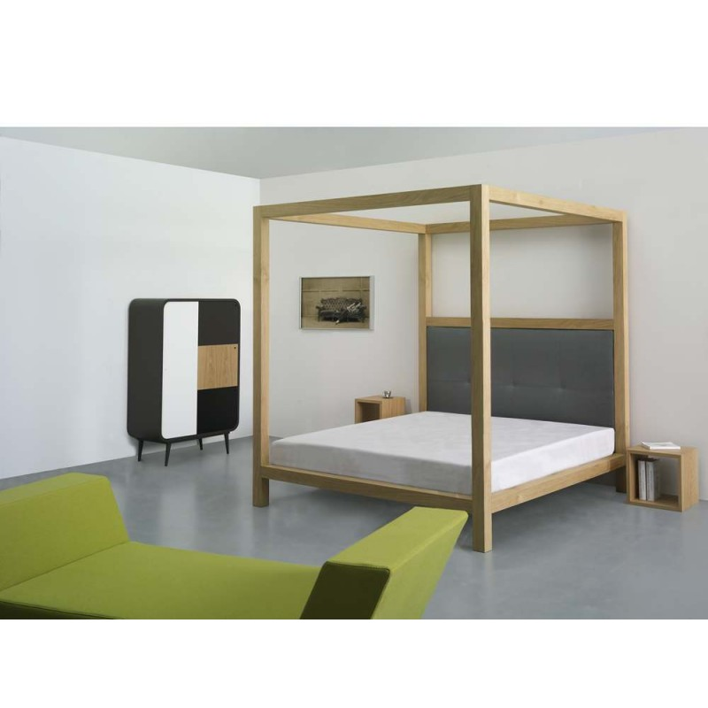 lit baldaquin ykra grande t te de lit azea d co en ligne lits. Black Bedroom Furniture Sets. Home Design Ideas