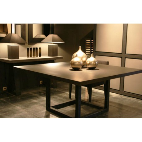 table de salle manger zoe carr e ph collection d co