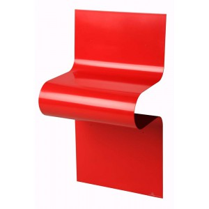 Chevet/Console design ondulé rouge brillant, Vidame