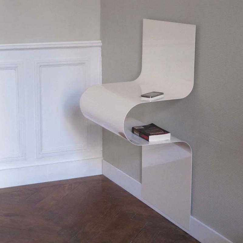 chevet console design ondul rouge brillant vidame d co. Black Bedroom Furniture Sets. Home Design Ideas