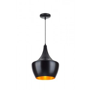Suspension Tipi noir/doré Ø30