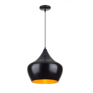 Suspension Tipi noir/doré Ø38