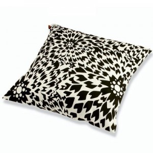 Coussin Dalia carré/rectangulaire noir/blanc by Missoni Home