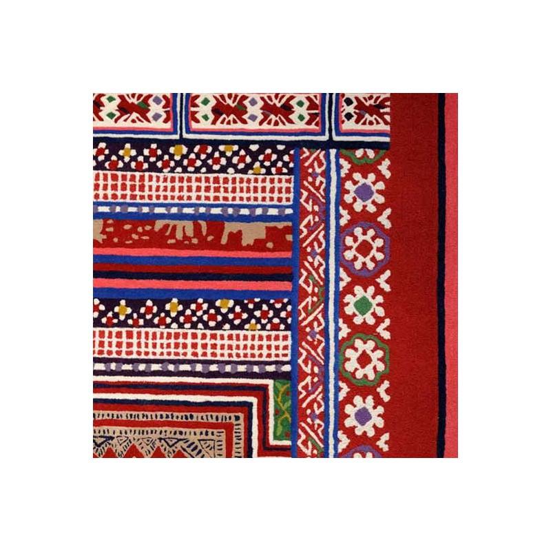tapis baya rouge toulemonde bochart d co en ligne tapis. Black Bedroom Furniture Sets. Home Design Ideas