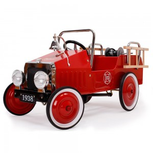 Voiture à pédales camion de pompier Ford