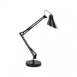 Lampe de bureau Sally noire, Ideal Lux