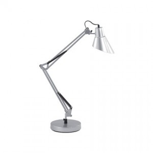 Lampe de bureau Sally argent, Ideal Lux