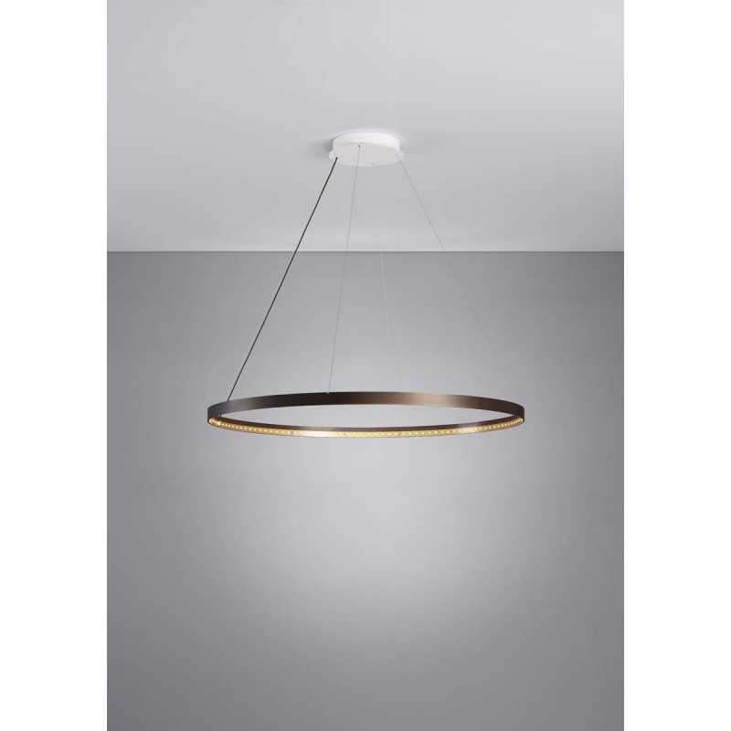 Suspension circle 80 bronze le deun luminaires d co en for Luminaire outdoor design